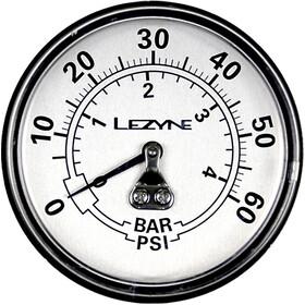 """Lezyne Manometer 2-5"""" 60PSI do wszystkich pompek podłogowych Dirt, black/silver"""